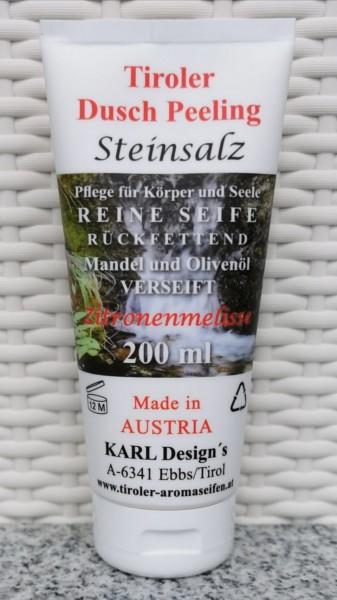 Duschpeeling Steinsalz mit Zitronenmelisse 200ml Tube